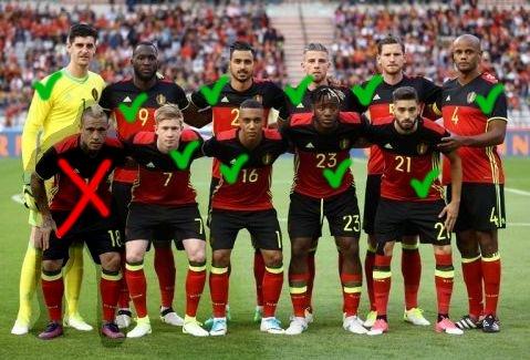 ベルギー代表メンバー一覧